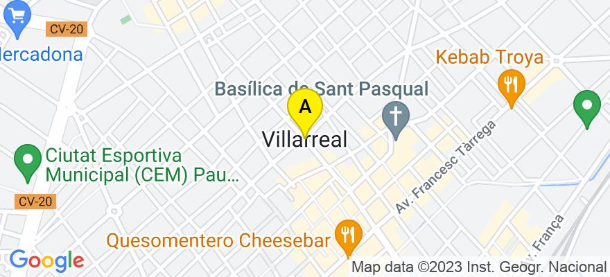 situacion en el mapa de . Direccion: C/ Aragón, 8, entrlo. B, 12540 Vila-real. Castellón de la Plana