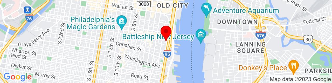 Google Map of 39.939938, -75.144587