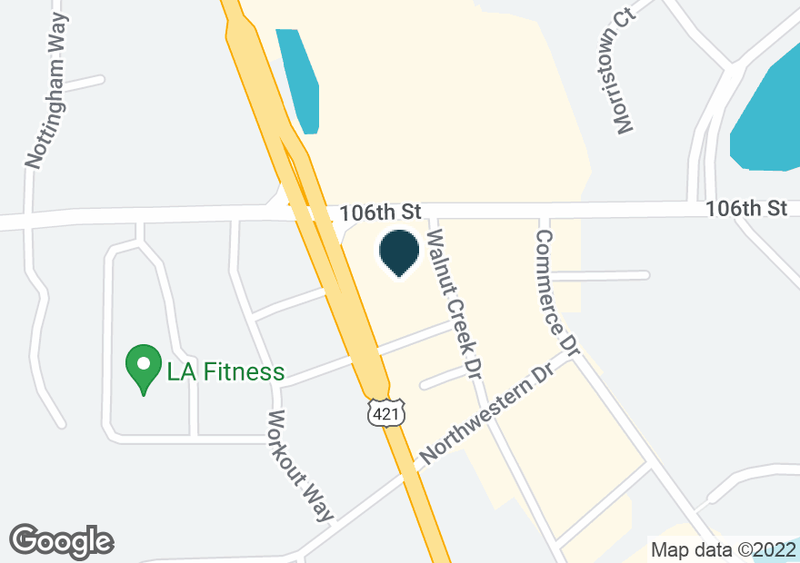 Google Map of10595 N MICHIGAN RD