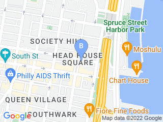 Map of Society Hill Veterinary Hospital Dog Boarding options in Philadelphia | Boarding