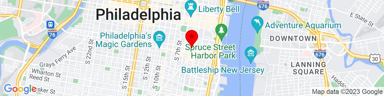 Google Map of 39.9427715, -75.1499884