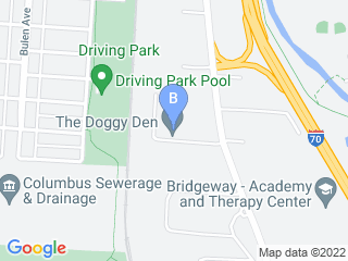Map of The Doggy Den Dog Boarding options in Columbus | Boarding