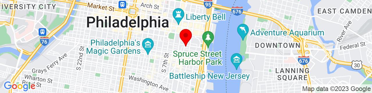 Google Map of 39.944639, -75.14809799999999