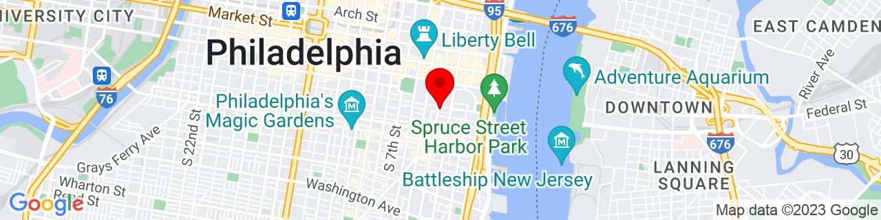 Google Map of 39.94466, -75.148245