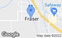 Map of Fraser, CO