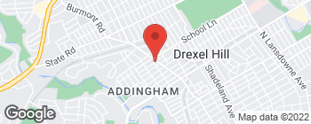 Map of 528 Burmont Rd in Drexel Hill