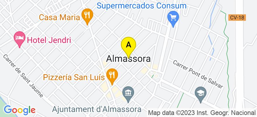 situacion en el mapa de . Direccion: Poligono Industrial Supoi/8, C/ dels Ibers 24, 12550 Almazora. Castellón de la Plana