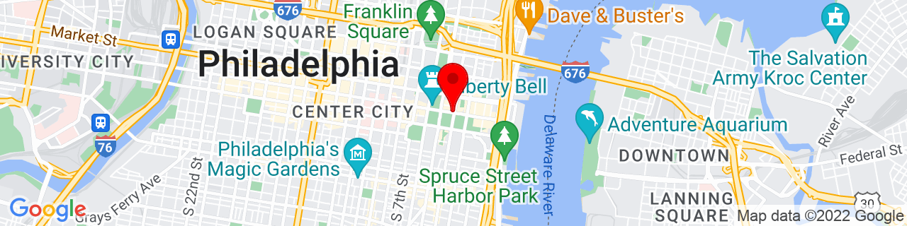 Google Map of 39.9488847, -75.1477294