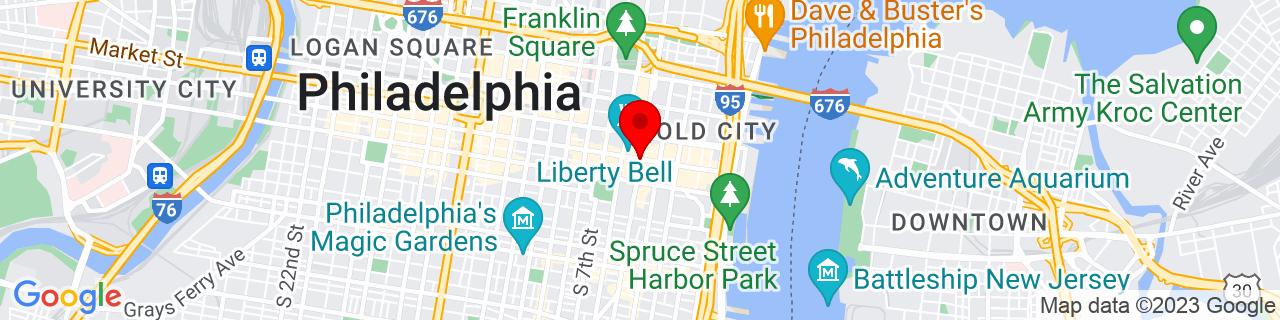 Google Map of 39.9489698, -75.1492328