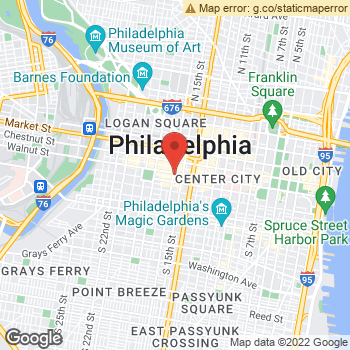 Map of Dr. Delbert Ritchey, Optometrist, and Associates - Rittenhouse Square at 1528 Walnut Street, Philadelphia, PA 19102