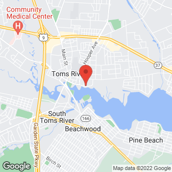 Map of BAYADA Hospice at 96 East Water Street, Toms River, NJ 08753