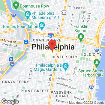 Map of Liberty Travel at 1524 Chestnut St, Philadelphia, PA 19102