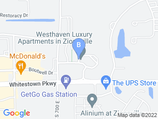 Map of Olivera Pet Care Dog Boarding options in Zionsville | Boarding
