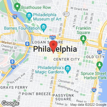 Map of Kiehl's Since 1851 at 1625 Chestnut St, Philadelphia, PA 19103