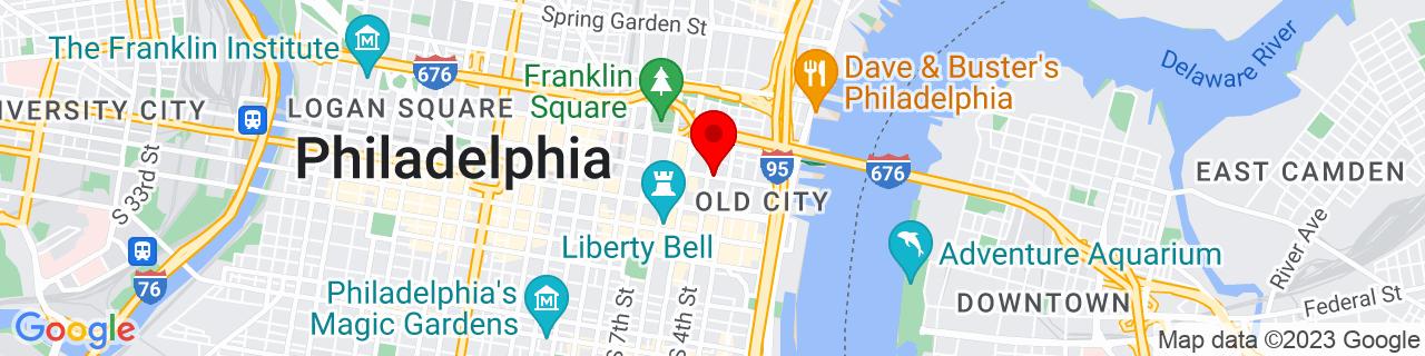 Google Map of 39.9523101, -75.14641929999999