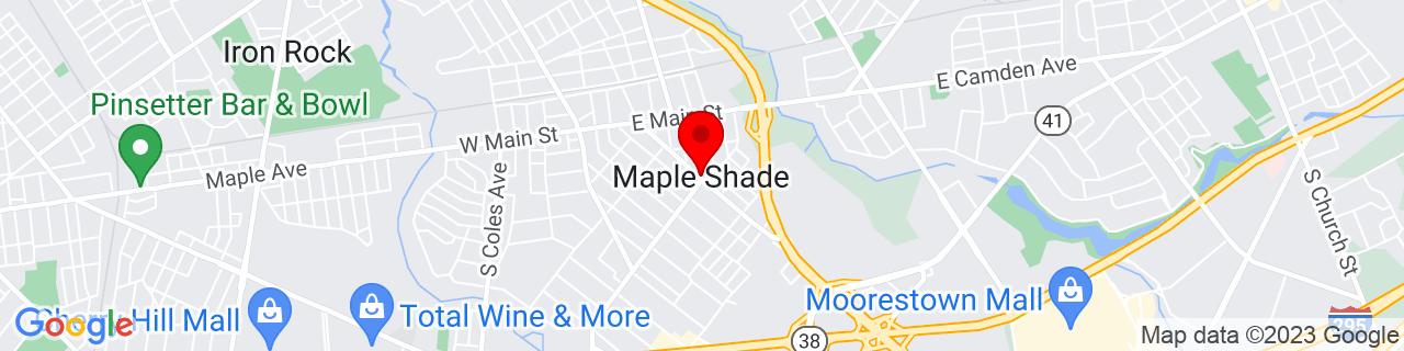 Google Map of 39.9526127, -74.9923915