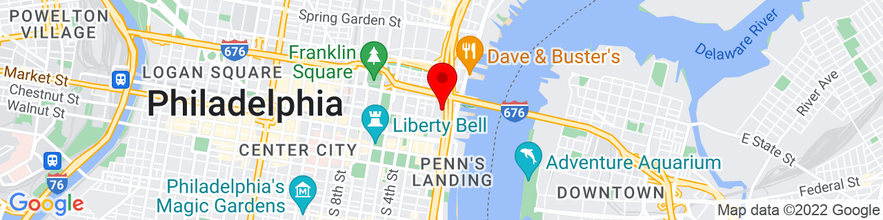 Google Map of 39.9527179, -75.1419765