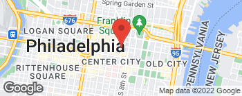 Map of 50 N 9th St Apt 1 in Philadelphia
