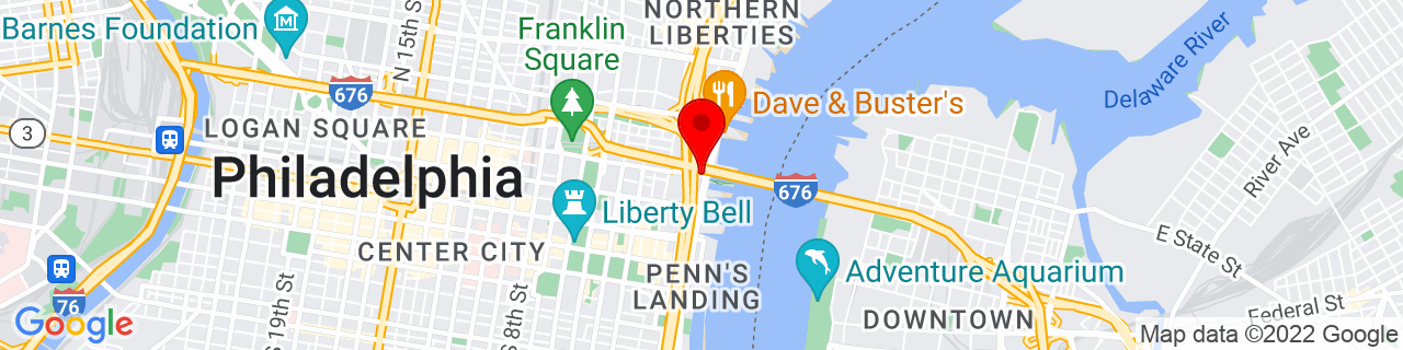 Google Map of 39.9535571, -75.1403129