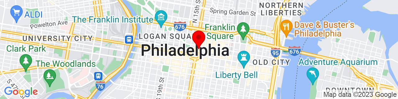 Google Map of 39.95361200000001, -75.16266399999999
