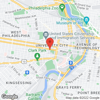 Map of Panera Bread at 200 S. 40th St, Philadelphia, PA 19104