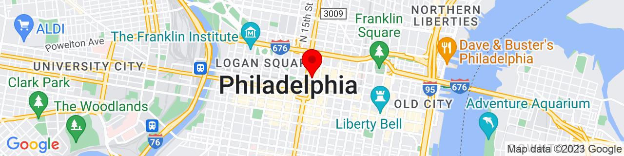Google Map of 39.9543041, -75.16230709999999