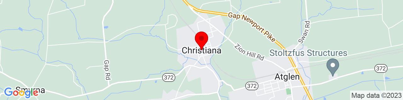 Google Map of 39.95482620000001, -75.9968949