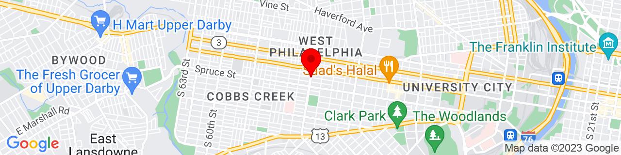 Google Map of 39.955805, -75.2257127