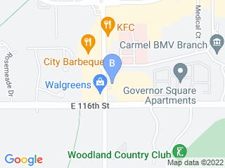 Map of Companion Animal Medical Center Dog Boarding options in Carmel | Boarding