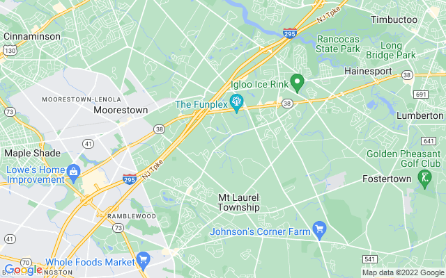 Mount laurel township on the map
