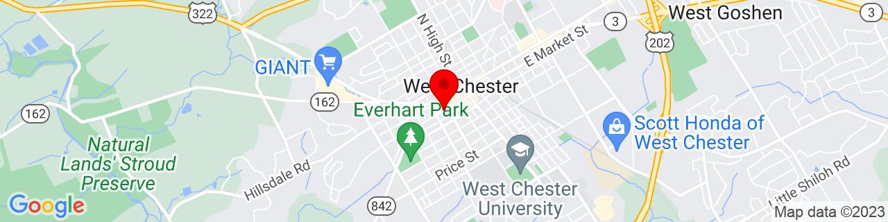 Google Map of 39.9583212, -75.6075802