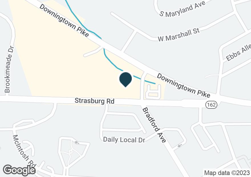 Google Map of300 N BRADFORD AVE