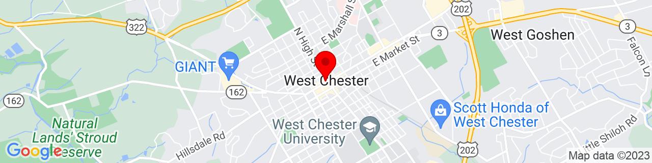Google Map of 39.96055555555556, -75.60555555555555