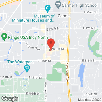 Map of Fifth Third Mortgage - Lisa Fox at 205 East Carmel Drive, Carmel, IN 46032