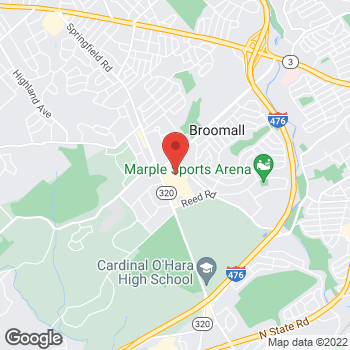 Map of Hair Cuttery at 1991 Sproul Rd, Broomall, PA 19008