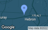 Map of Hebron, OH