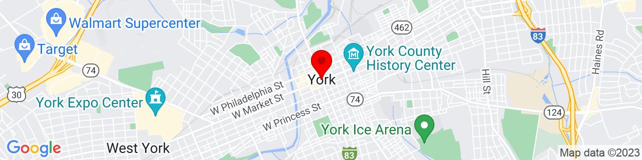 Google Map of 39.962500000000006, -76.72777777777777