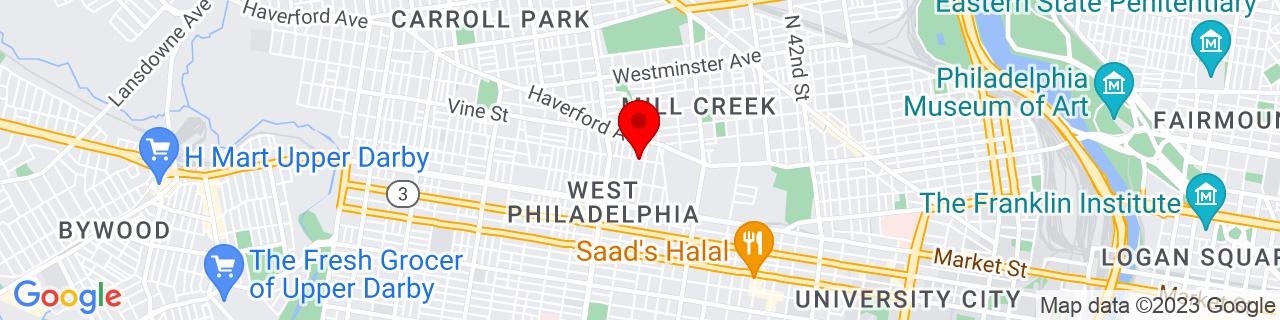 Google Map of 39.962778, -75.221747