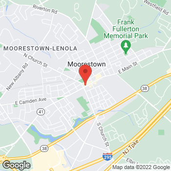 Map of Rite Aid at 121 West Main Street, Moorestown, NJ 08057