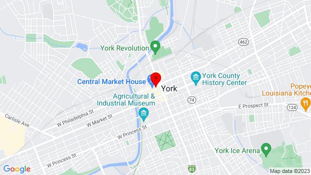 Google Map of 50 N. George St., York, PA 17401
