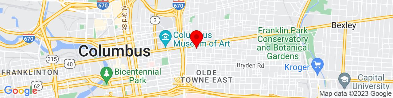 Google Map of 39.96387800000001, -82.97883929999999