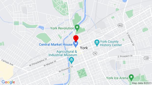 Google Map of 142 N George St, York, PA 17401