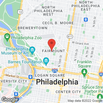 Map of Rite Aid at 1924 Fairmount Avenue, Philadelphia, PA 19130