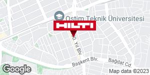 Hilti - Ankara Mağaza için yol tarifini alın