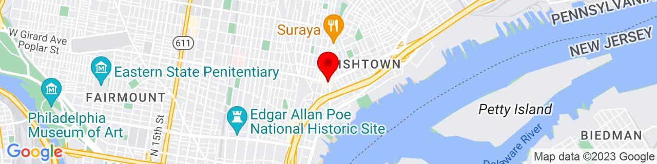 Google Map of 39.9686518, -75.1347017