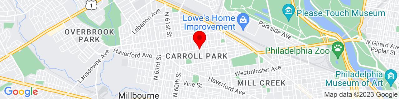 Google Map of 39.9734354, -75.2336819