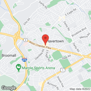 Map of Staples at 1305 Westchester Pike, Havertown, PA 19083
