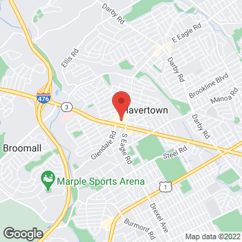 Map of Rite Aid at 1305 West Chester Pike, Havertown, PA 19083