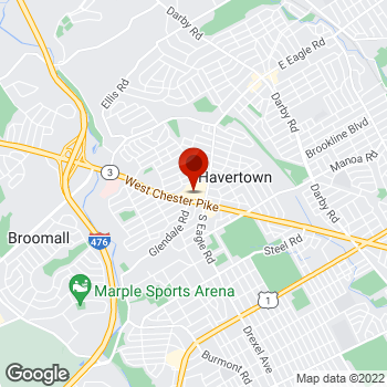 Map of Staples® Print & Marketing Services at 1305 Westchester Pike, Havertown, PA 19083