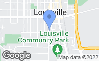 Map of Louisville, CO